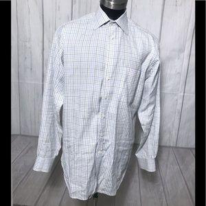 Burberry London Plaid button down Shirt Size 16.5